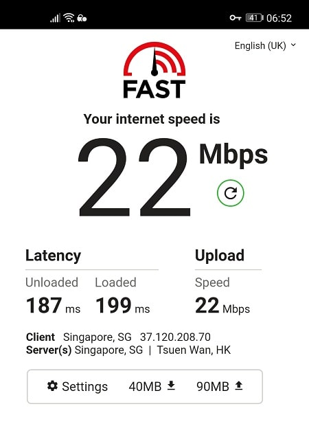 Speed Test with PIA