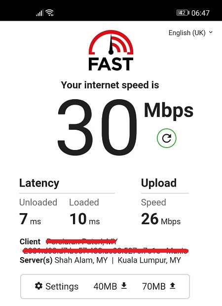Speed Test without PIA