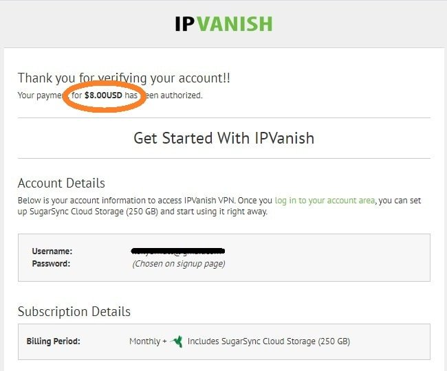 Overview of the IPVanish sign up