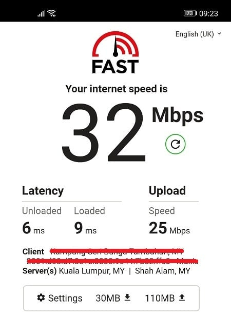 Speed Test without IPVanish