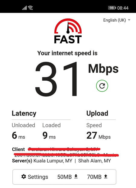 Speed Test without TunnelBear