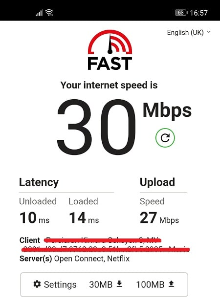 Speed Test without VyprVPN