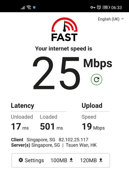 Speed Test with Hotspot Shield VPN