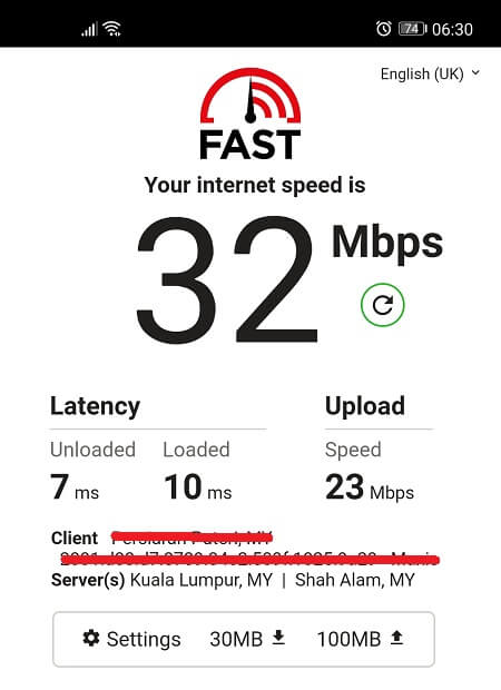 Speed Test without Hotspot Shield VPN