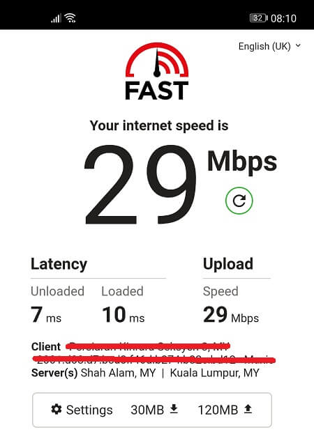 Speed Test without Windscribe